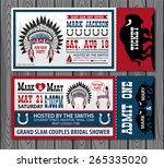 set of vintage tickets.... | Shutterstock .eps vector #265335020