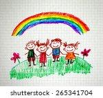 happy people | Shutterstock . vector #265341704