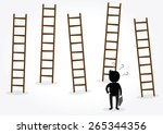 businessman looking for new job ... | Shutterstock .eps vector #265344356