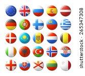 world flags round badges ... | Shutterstock .eps vector #265347308