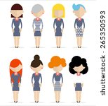 business women standing still. | Shutterstock .eps vector #265350593