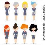 business women standing still. | Shutterstock .eps vector #265350593