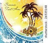 summer card | Shutterstock .eps vector #26535148