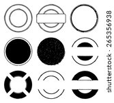 set of round stamp grunge... | Shutterstock . vector #265356938