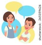 two cartoon style kids half... | Shutterstock .eps vector #265359626