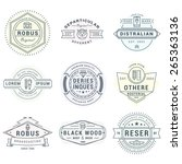 set of hipster vintage labels ... | Shutterstock .eps vector #265363136