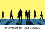 silhouette people global... | Shutterstock . vector #265380029