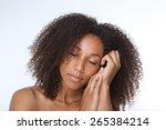 close up portrait of a... | Shutterstock . vector #265384214