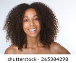 close up portrait of a happy... | Shutterstock . vector #265384298