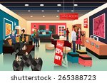 a vector illustration of people ... | Shutterstock .eps vector #265388723