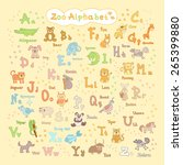 colorful children's alphabet... | Shutterstock .eps vector #265399880
