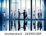 corporate business team... | Shutterstock . vector #265401389