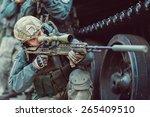 Постер, плакат: Sniper aim at a