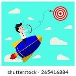 business start up through arrow ... | Shutterstock .eps vector #265416884