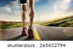 sports background. runner feet... | Shutterstock . vector #265422794