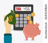 taxes design over white... | Shutterstock .eps vector #265424864