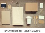 coffee identity branding mockup ... | Shutterstock . vector #265426298
