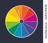 wheel of fortune vector... | Shutterstock .eps vector #265429658