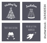 vector collection of greeting... | Shutterstock .eps vector #265430534
