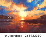 beautiful painting showing...   Shutterstock . vector #265433390