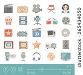 flat icons   cinema | Shutterstock .eps vector #265434050