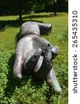 Small photo of MOUNTAINVILLE, NEW YORK - SEPTEMBER 14, 2014: STORM KING ART CENTER, where is a collection of more than 100 carefully sited sculptures created by some of the most acclaimed artists of our time, USA.