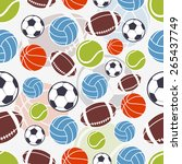 seamless sports pattern. sports ... | Shutterstock .eps vector #265437749