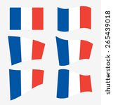 set of french flags on white... | Shutterstock .eps vector #265439018