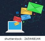 email newsletter design with... | Shutterstock .eps vector #265448144