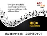 gold music notes on a solide... | Shutterstock .eps vector #265450604