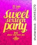 sweet sixteen party fashion... | Shutterstock .eps vector #265451270
