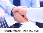 business people shaking hands ... | Shutterstock . vector #265452458