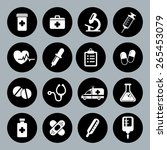 set of vector medical icons in...   Shutterstock .eps vector #265453079