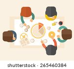 a meeting  of a business people ... | Shutterstock .eps vector #265460384
