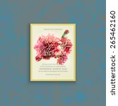 invitation card template with... | Shutterstock .eps vector #265462160