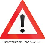 austrian warning sign for... | Shutterstock . vector #265466138