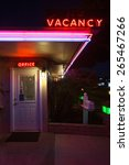 Neon Vacany Sign And Office For ...
