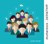 social networks communication... | Shutterstock . vector #265467449