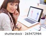 portrait of attractive female... | Shutterstock . vector #265472984