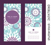 vector purple and blue floral... | Shutterstock .eps vector #265478060