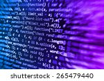 programmer developer screen ...   Shutterstock . vector #265479440