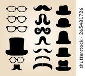 retro gentleman's set consists... | Shutterstock . vector #265481726