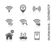 wireless local network internet ... | Shutterstock .eps vector #265486919