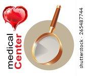medical design elements on...   Shutterstock .eps vector #265487744