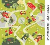 children's background with... | Shutterstock .eps vector #265488329
