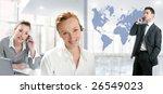 modern office with beautiful... | Shutterstock . vector #26549023