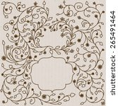 ornate frames and borders on a... | Shutterstock . vector #265491464