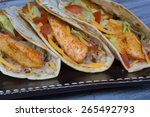 Fish Taco On A Soft Shell With...