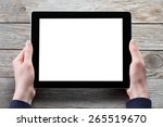 female hands holding digital...   Shutterstock . vector #265519670