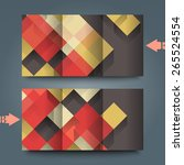 brochure template with abstract ... | Shutterstock . vector #265524554